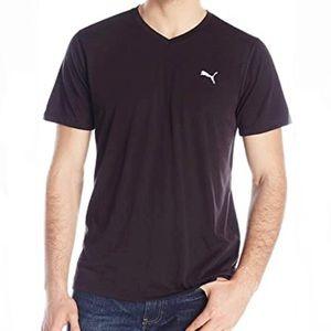PUMA Essential Short Sleeve V Neck Tee Black NWT